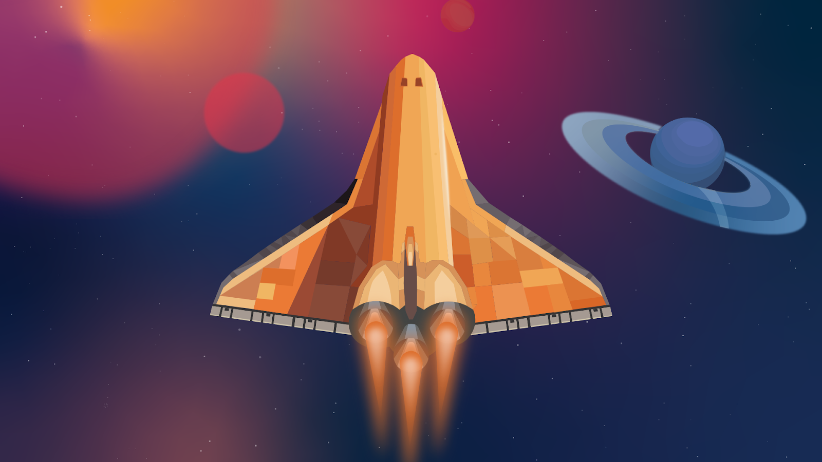 Illustration of rocket ship