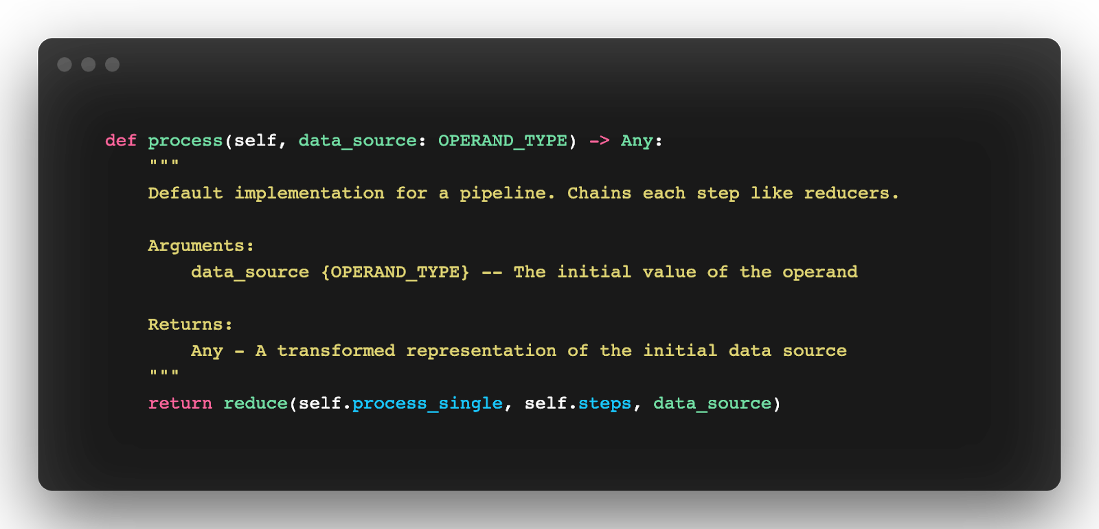 processing code from the base data pipeline module