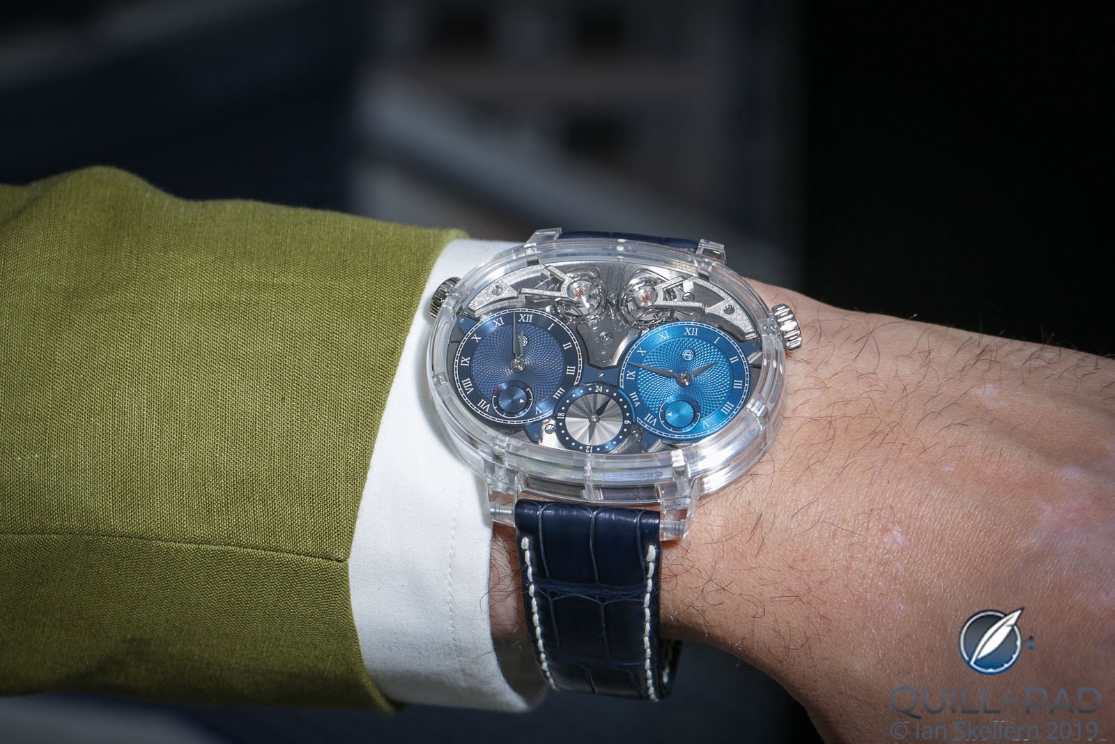 Armin Strom Dual Time Resonance Sapphire on the wrist