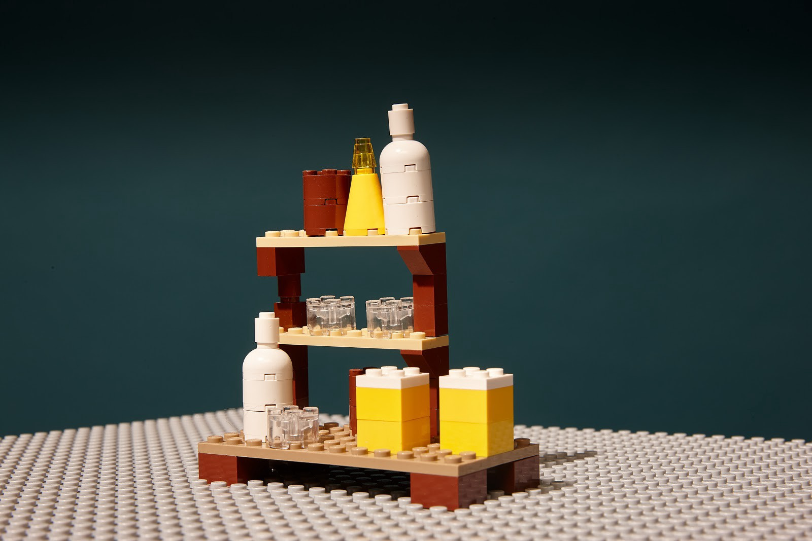A bar made out of Legos