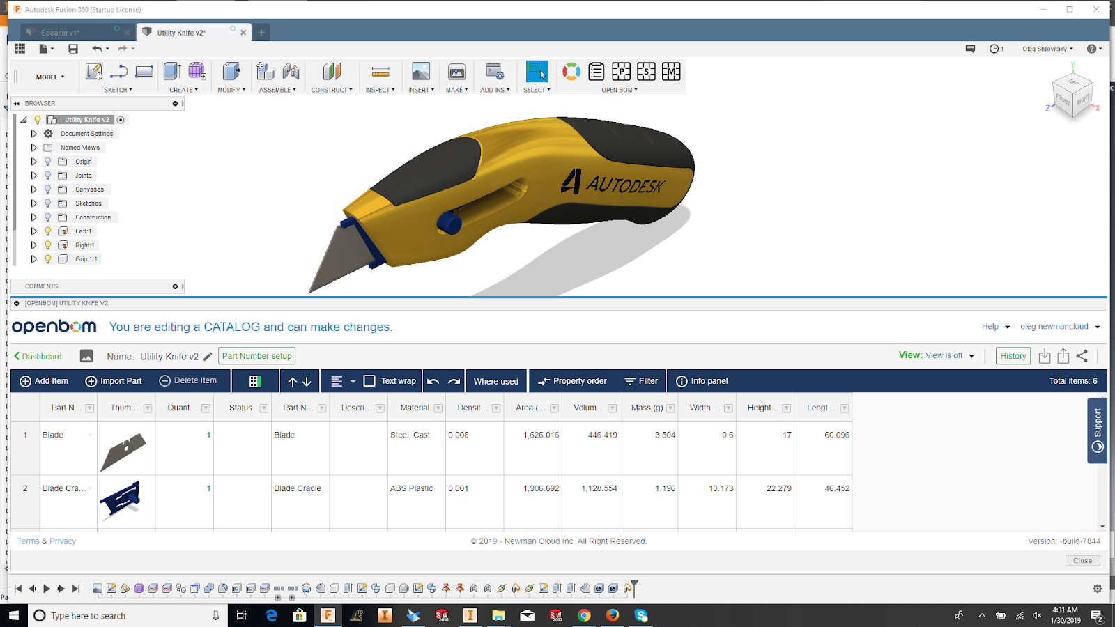Heads up — Enhancing Catalog Functions to OpenBOM CAD plug