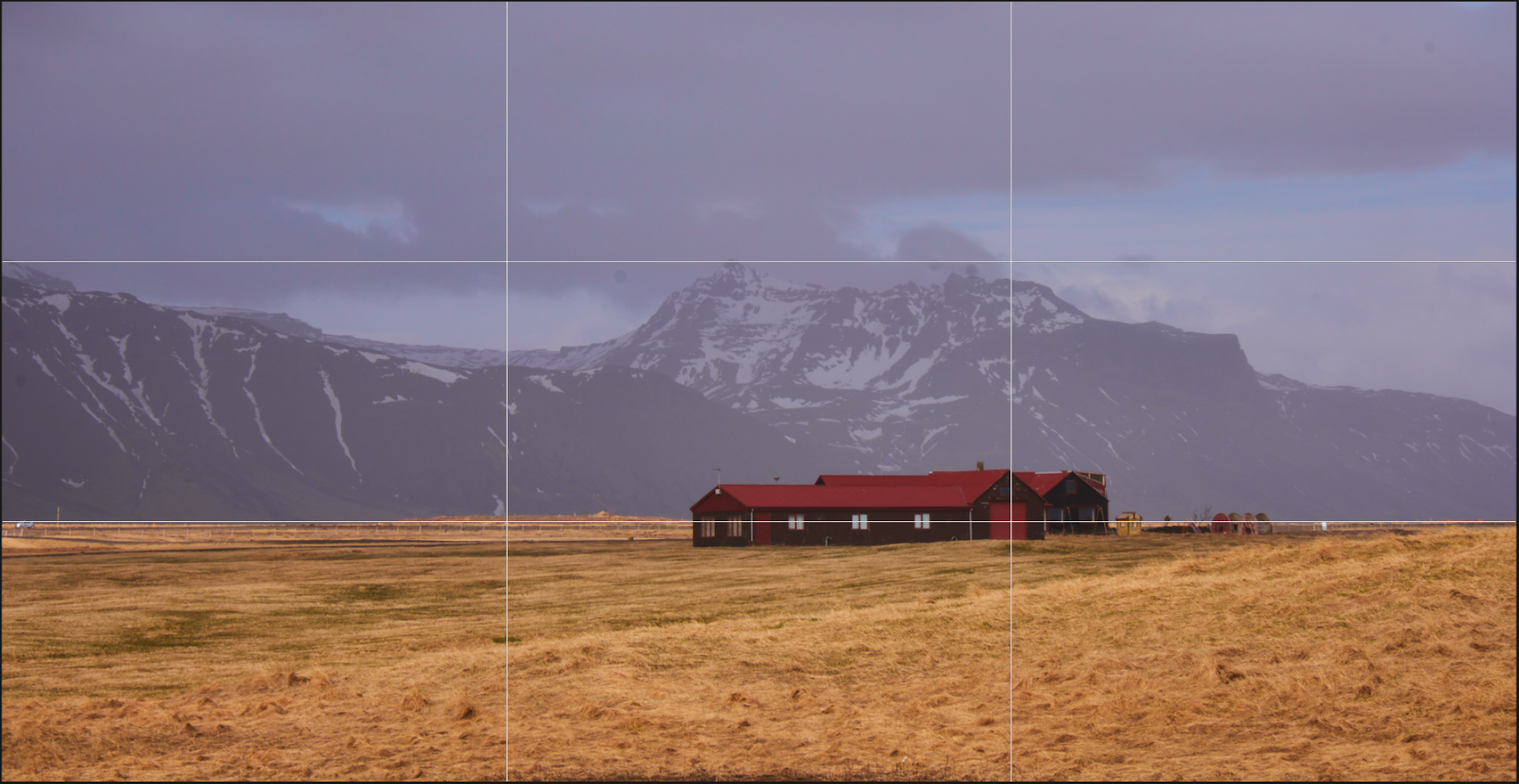 Iceland landscape with the rule of thirds