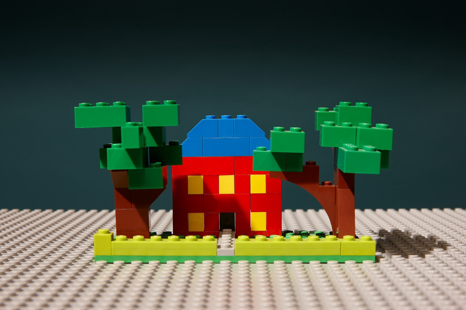 A house made of Legos