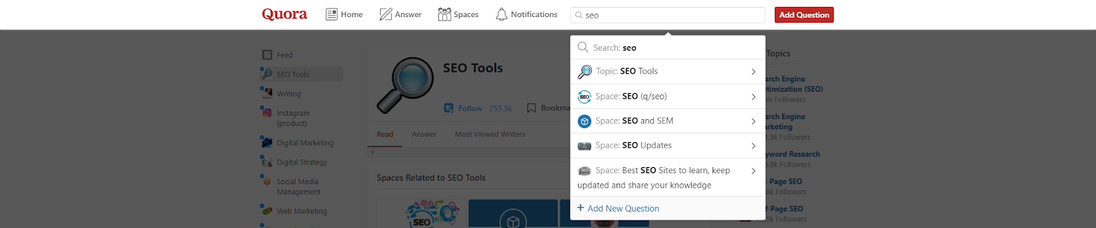 how to use quora for keyword research