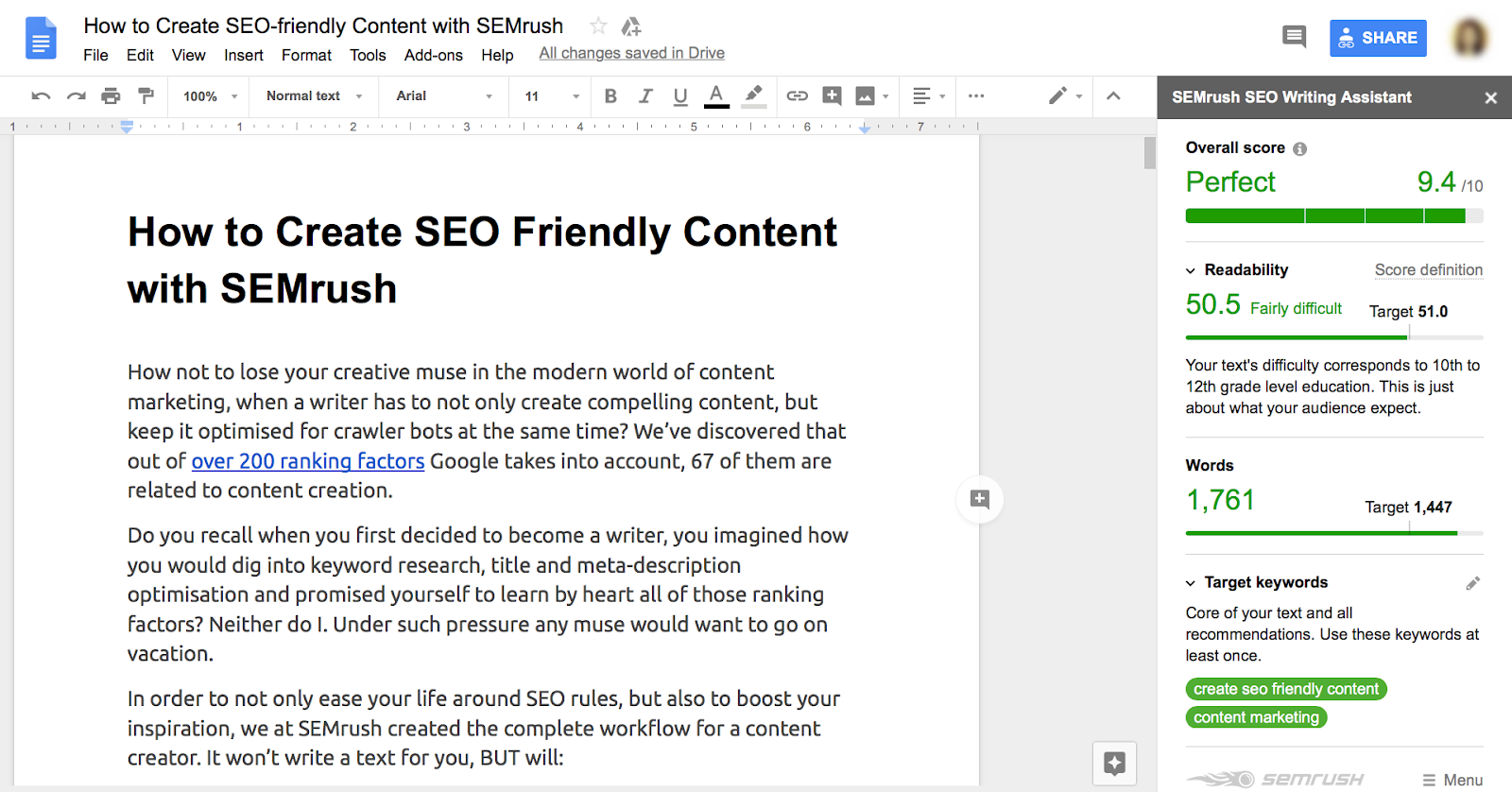 Facts About Semrush Seo Writing Assistant Revealed
