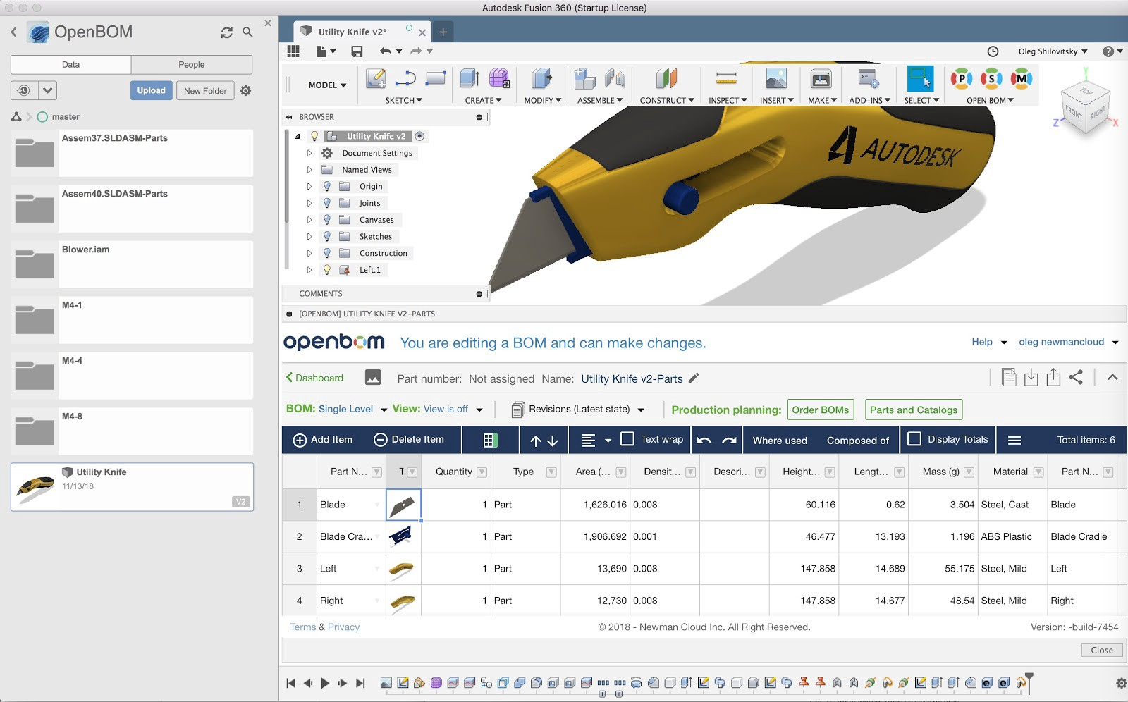 VIDEO] Step-by-step intro to OpenBOM and Cloud CAD and