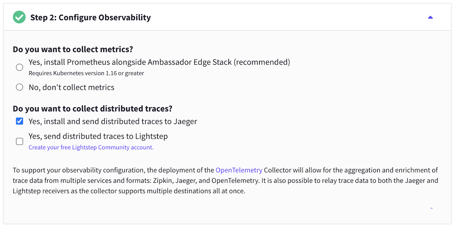 K8s Initializer observability options and Jaeger enabled
