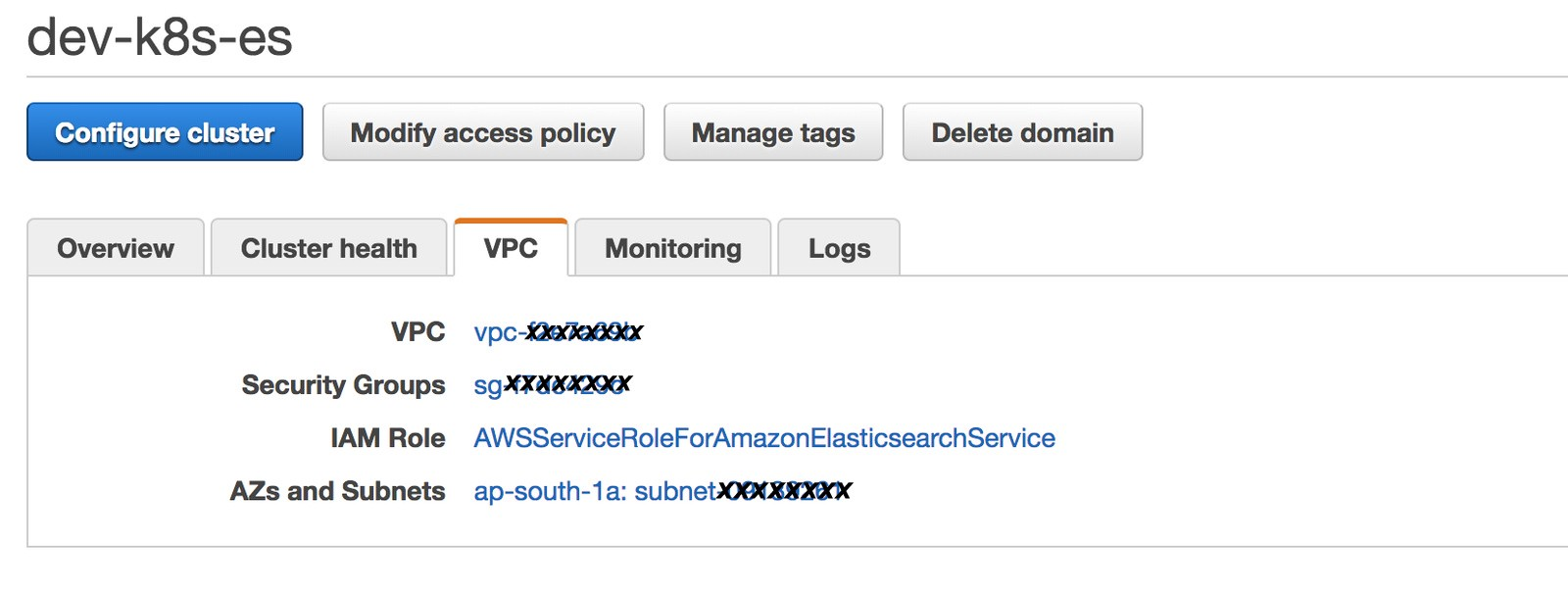 Securing AWS Elasticsearch Service by enabling Cognito