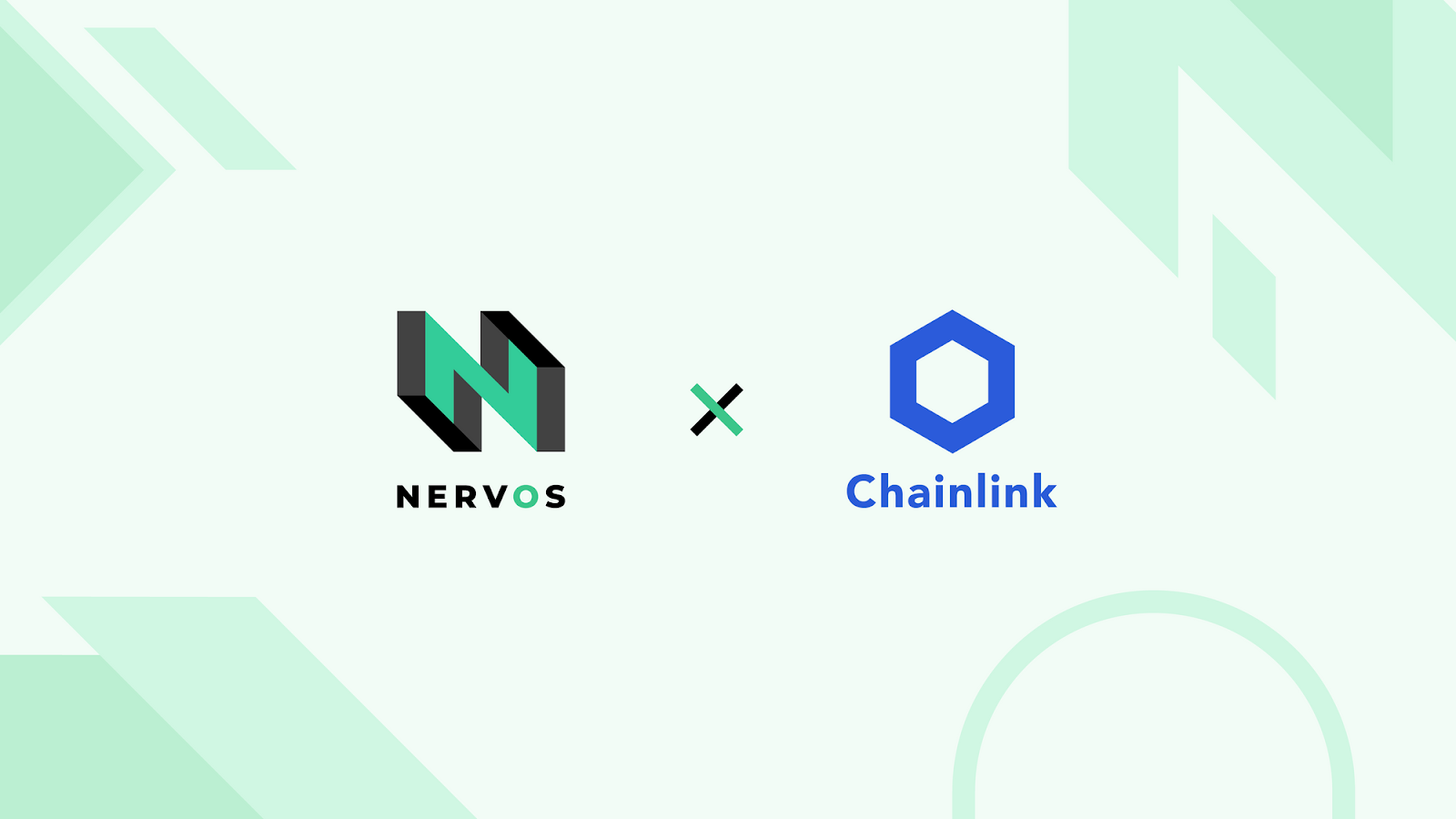 Logos for Nervos and Chainlink