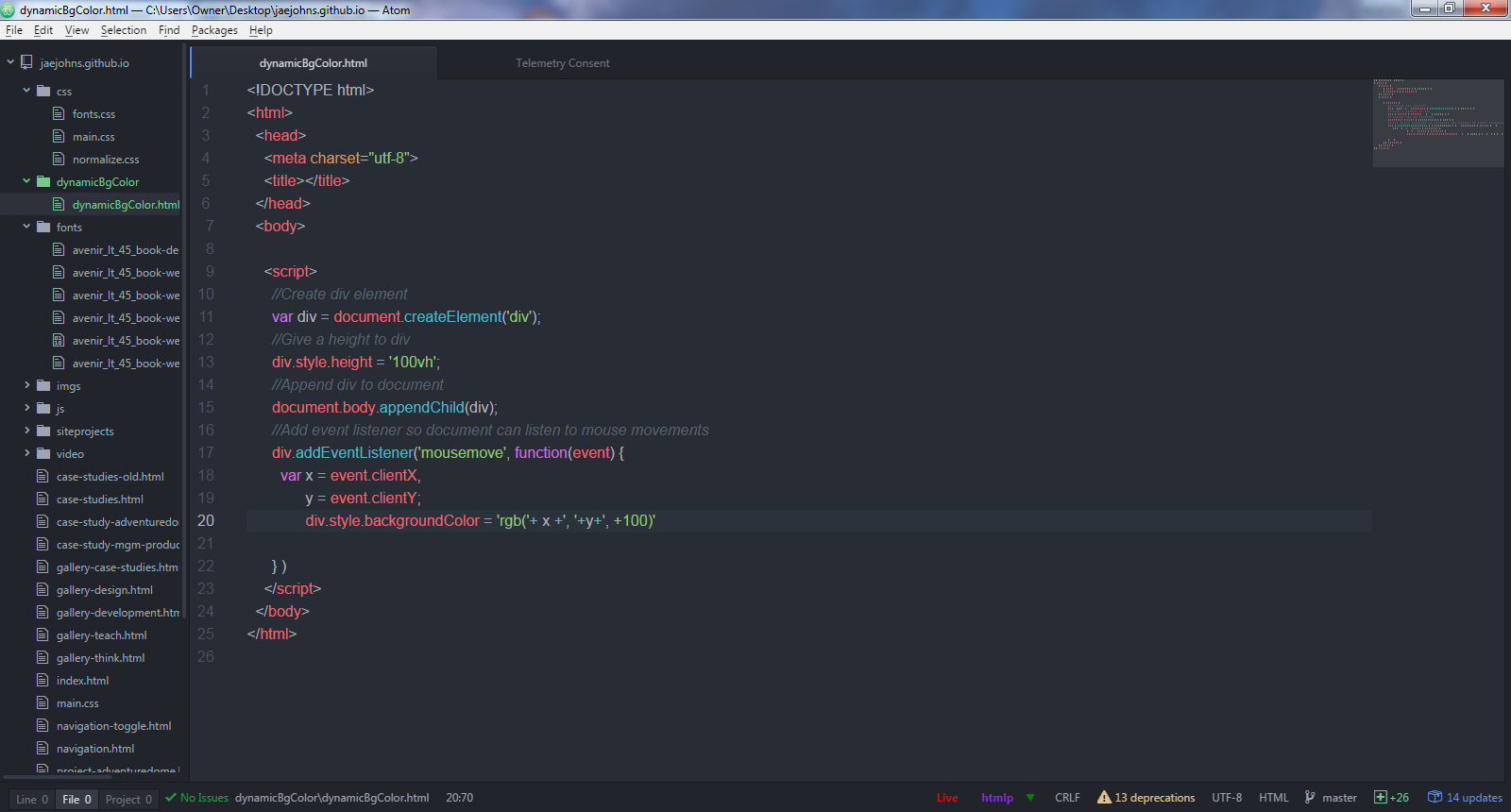 Background Color In Javascript