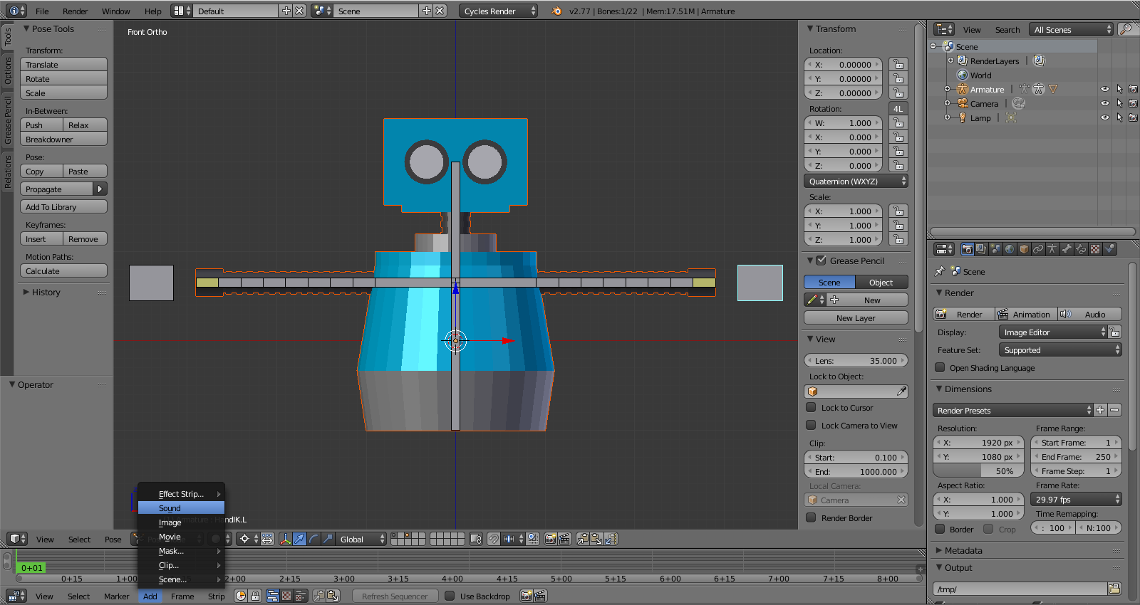 Beginner Blender: Syncing Animation to Sound with Keyframes
