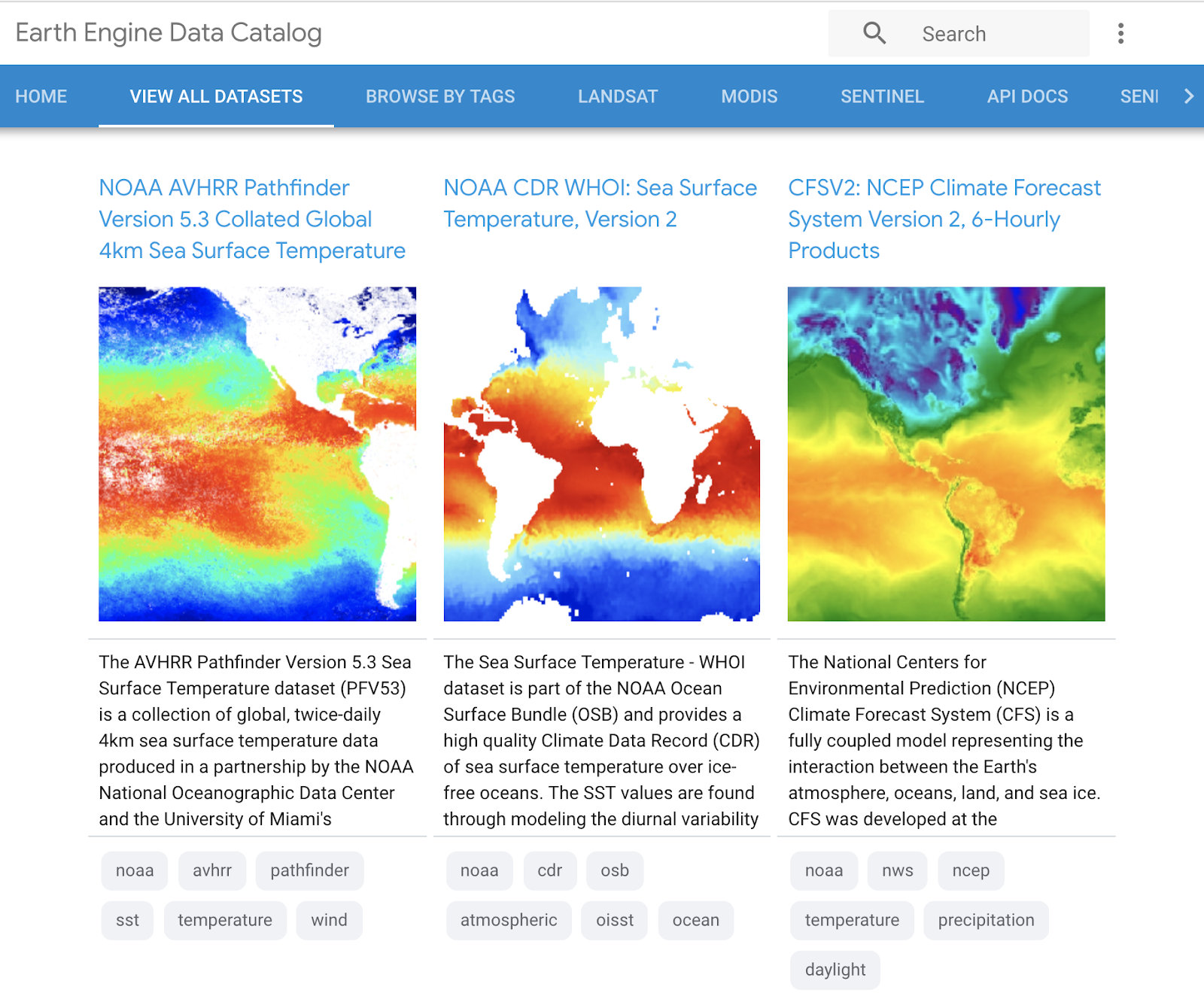 An easier way to browse, discover, and use Earth Engine datasets