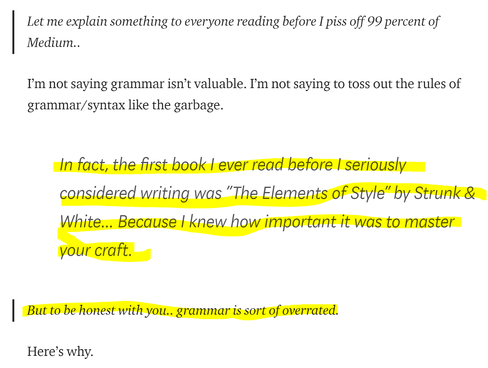 Stop saying grammar doesn't matter. | by Shelby Rogers | The Coffee Break  Collective | Medium