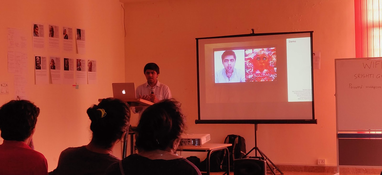 """Harshit Agrawal presenting his talk """"Artificial Intelligence and Art"""""""