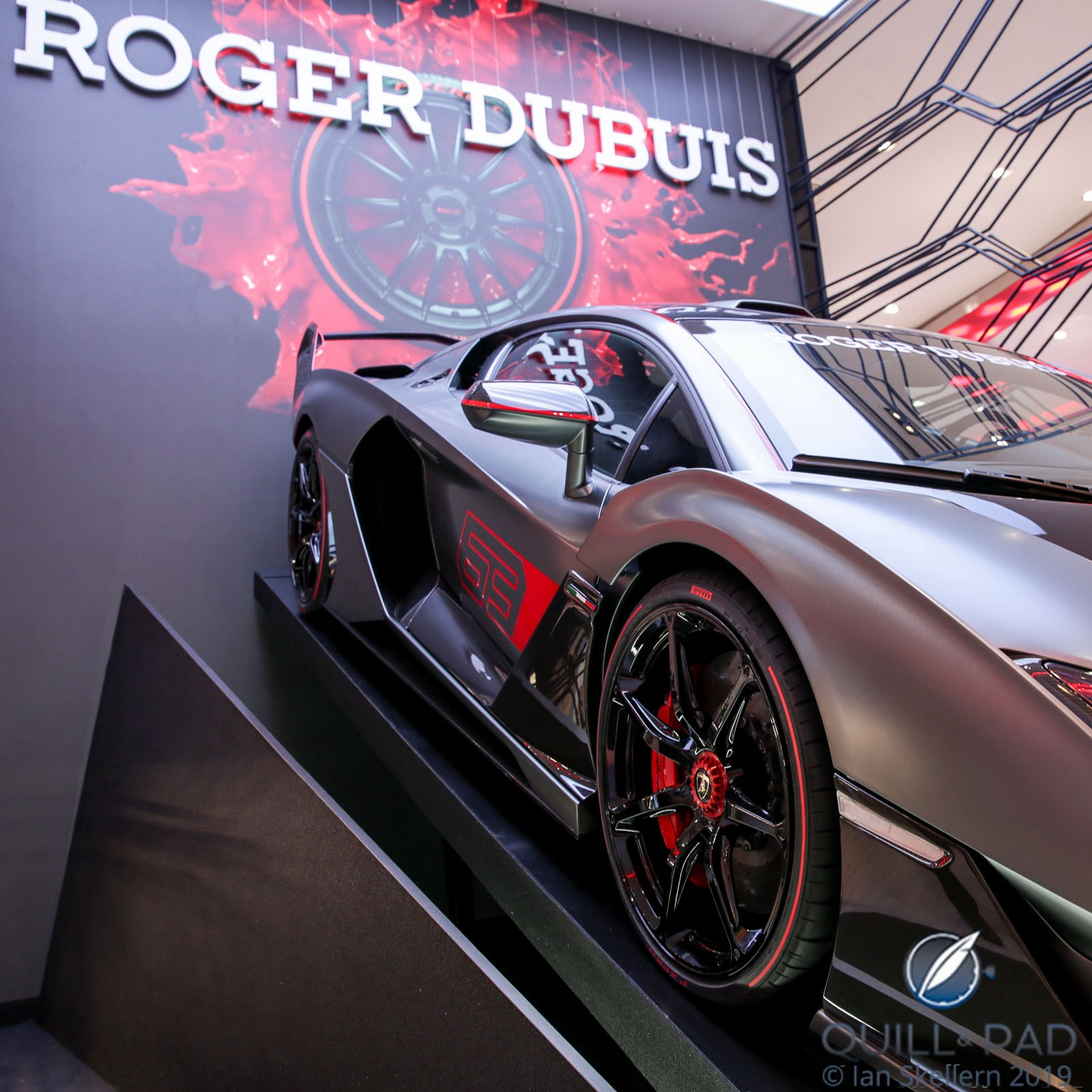 Lamborghini Huracán Performante at the Roger Dubuis stand at the 2019 SIHH