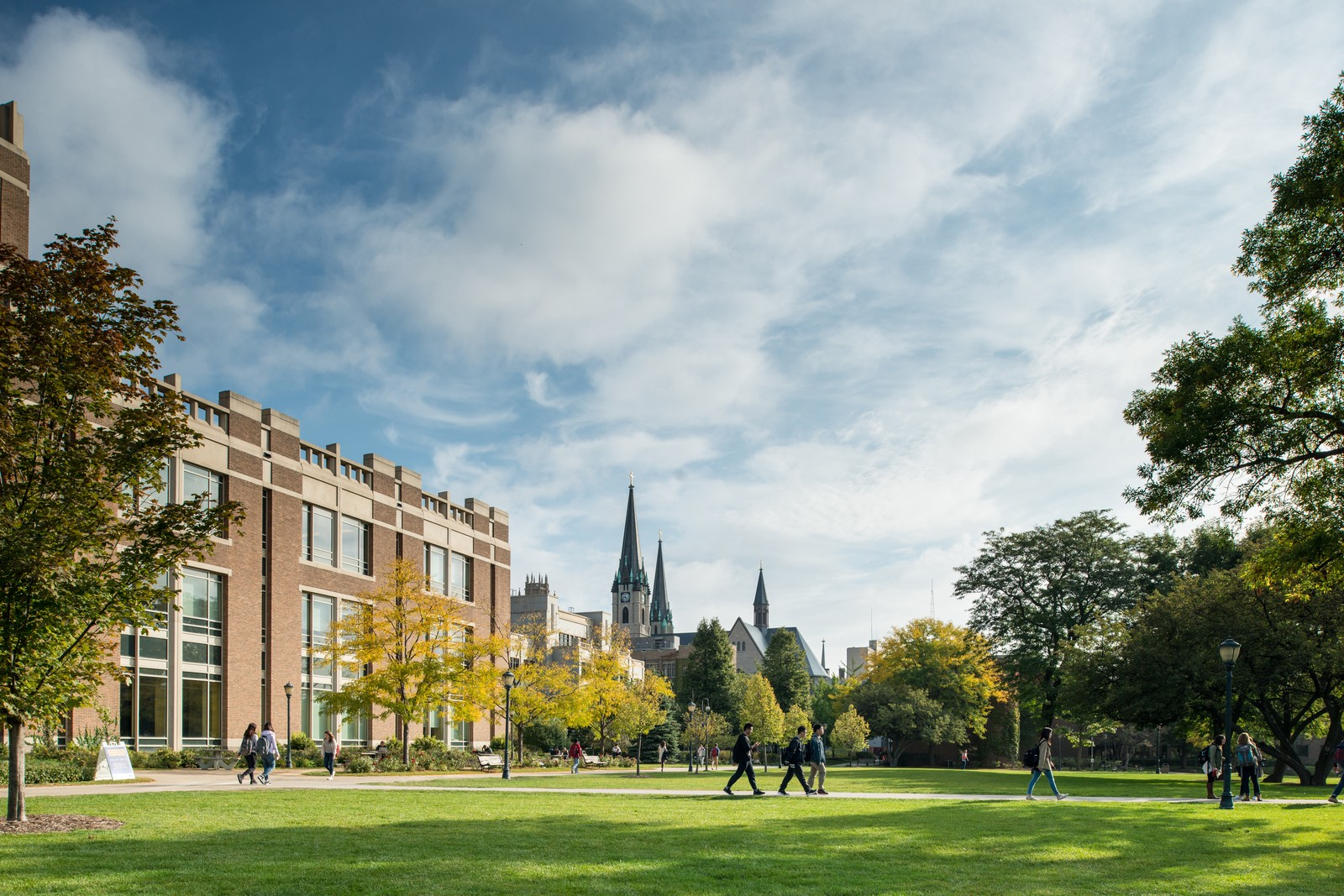 Picture of Marquette University's campus in fall.