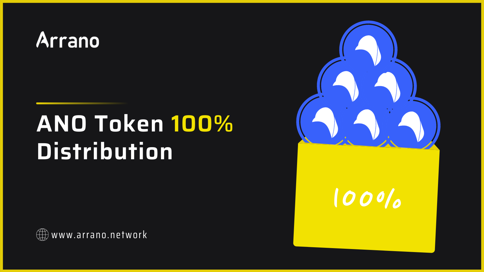 Arrano Network has reconsidered to distribution of its native token firm 5% monthly to 100% of verified funds at a time. Users can now reveiry email ands hold andx to claim the ANO tokens.