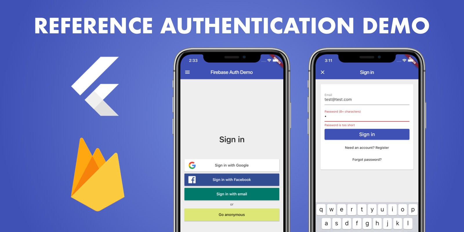 Flutter & Firebase: Reference Authentication Demo - Coding