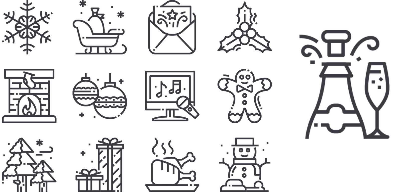 Christmas Iconography.The Issue Of Diversity In Icon Design The Iconfinder Blog