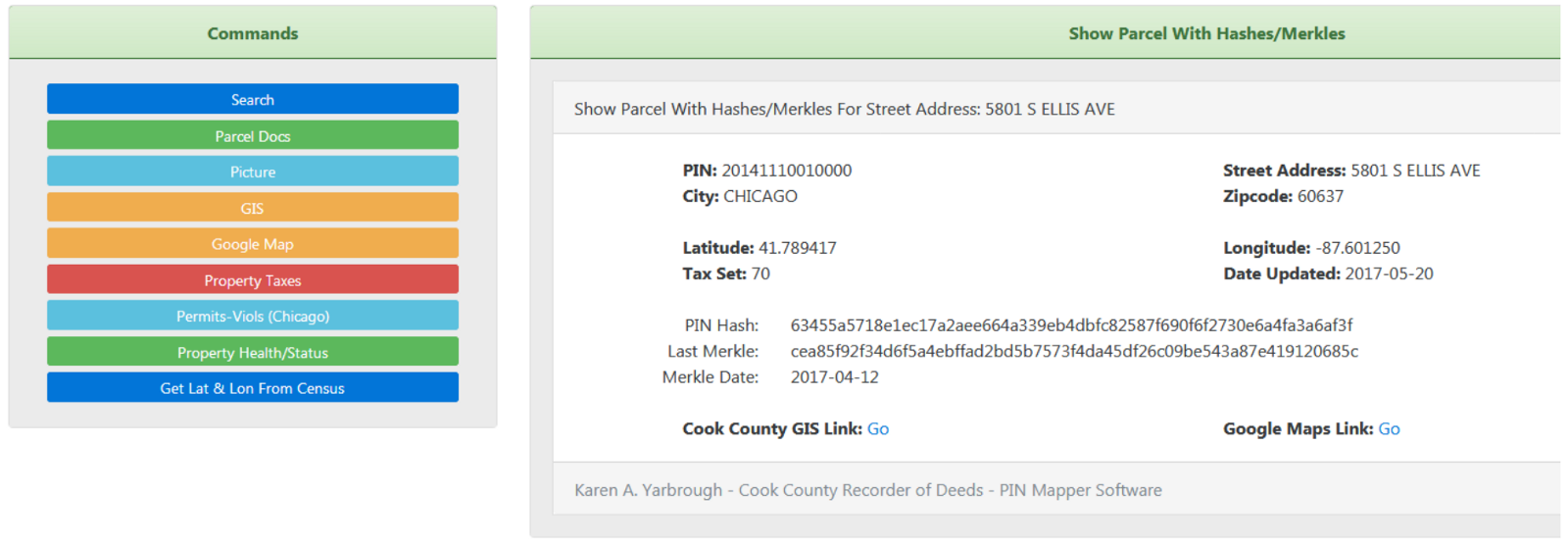 Blockchain Cook County — Distributed Ledgers for Land Records