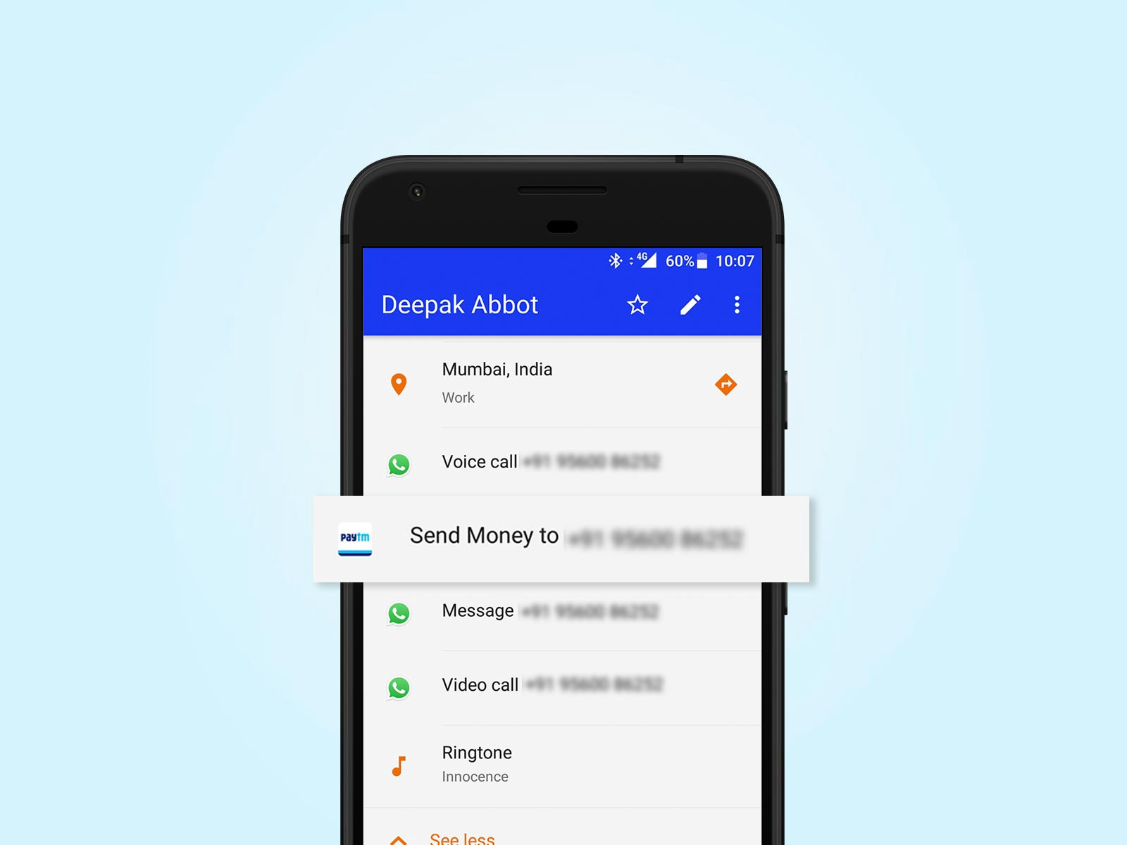 Send Money Directly From Your Phonebook