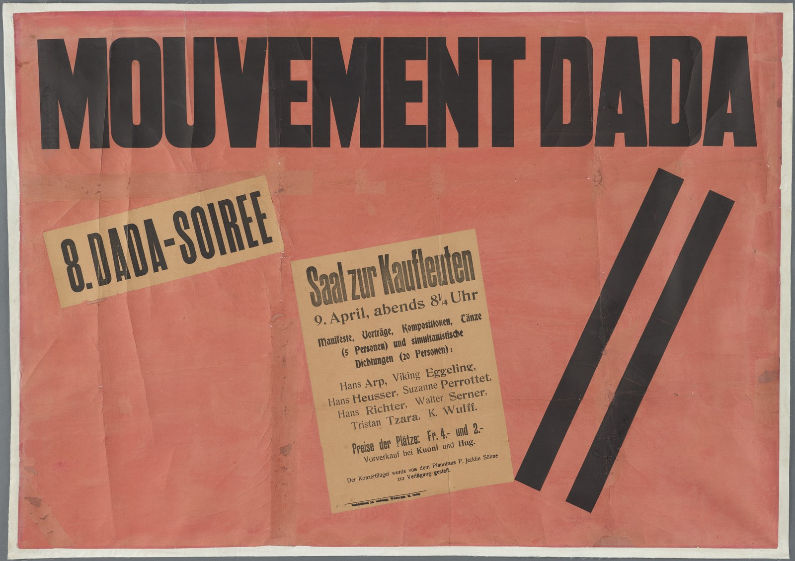 image of a poster for the Dada movement