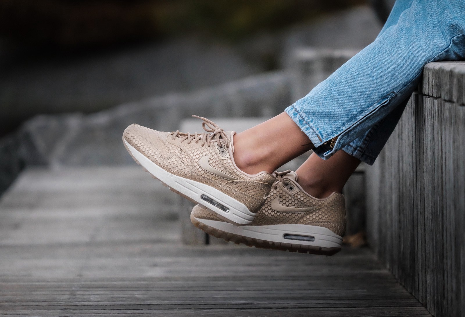 Nike Air Max 1 Womens Brown Trainers
