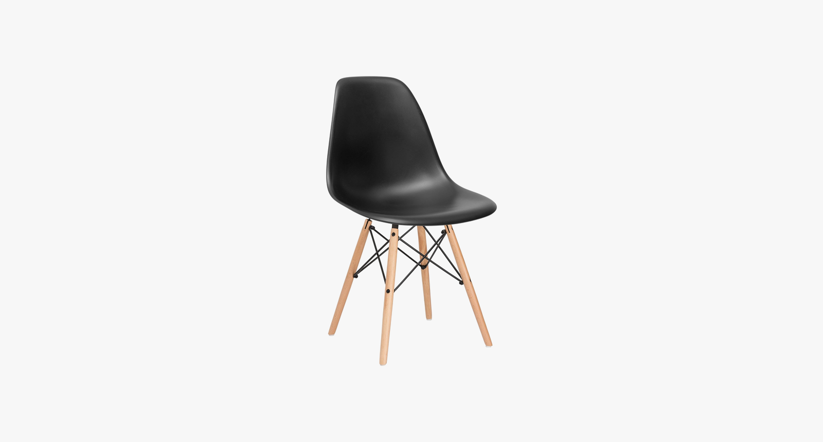 Vortex Dining Chair with stylish wooden legs by Poly+Bark