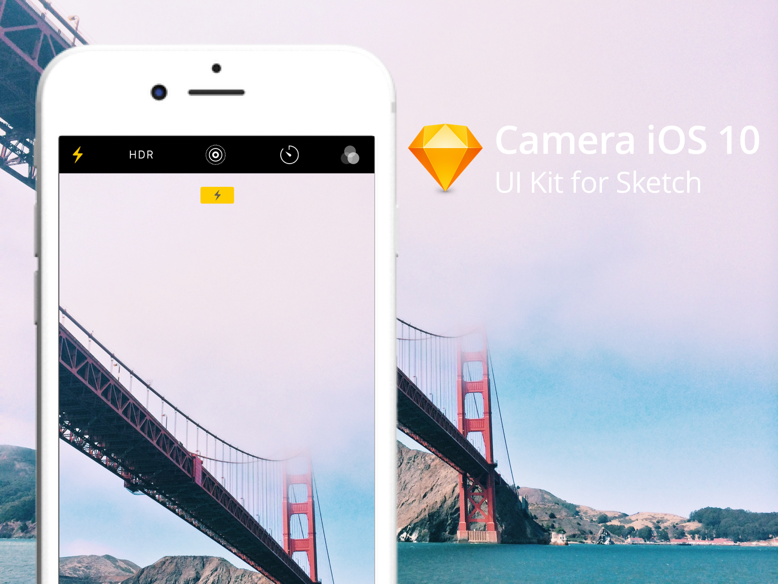 Apple Camera App (iOS 10) UI Kit for Sketch - Raffaele