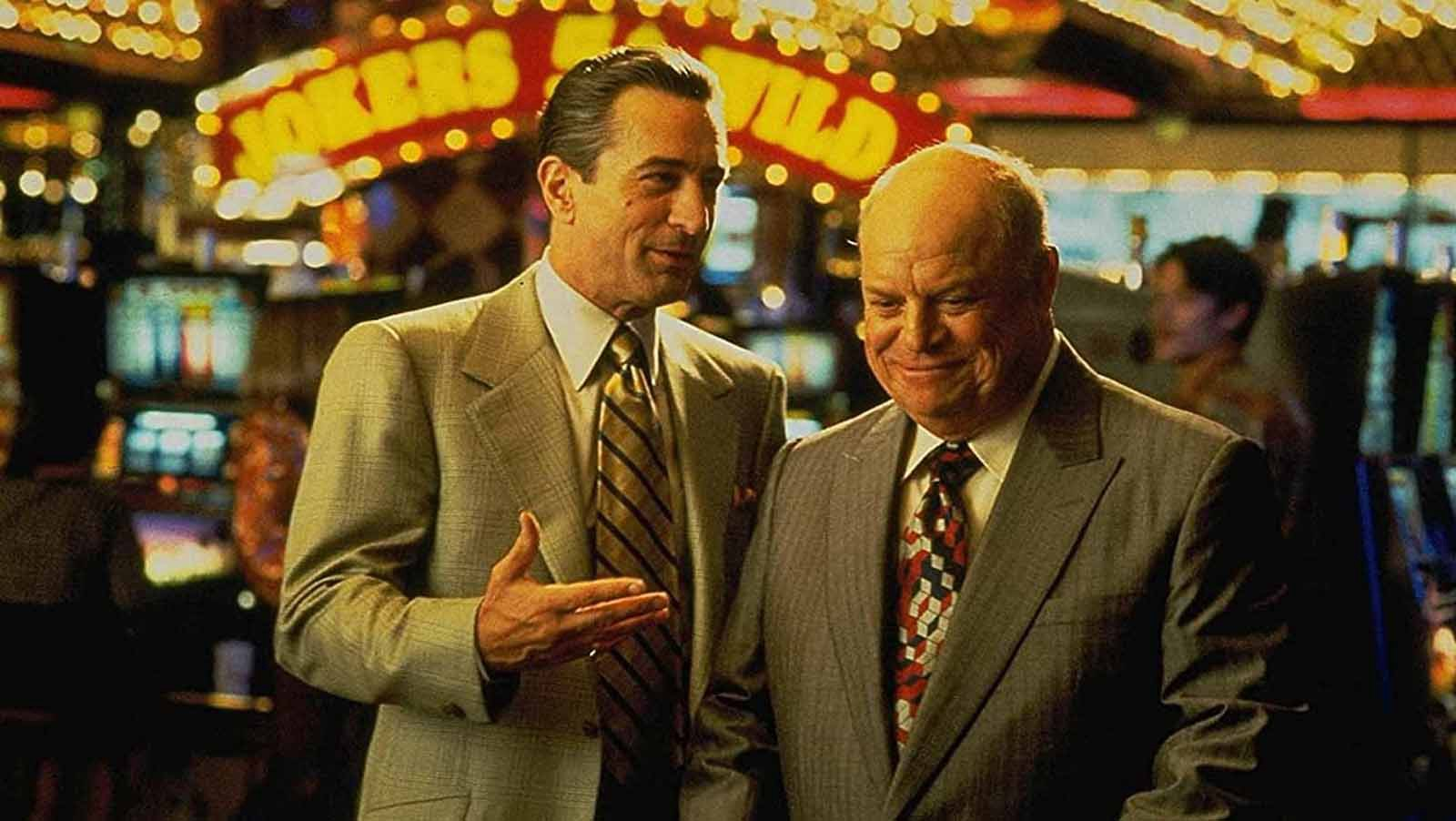 A photo of actors Robert DeNiro and comedian Don Rickles from Martin Scorcese's movie 'Casino'