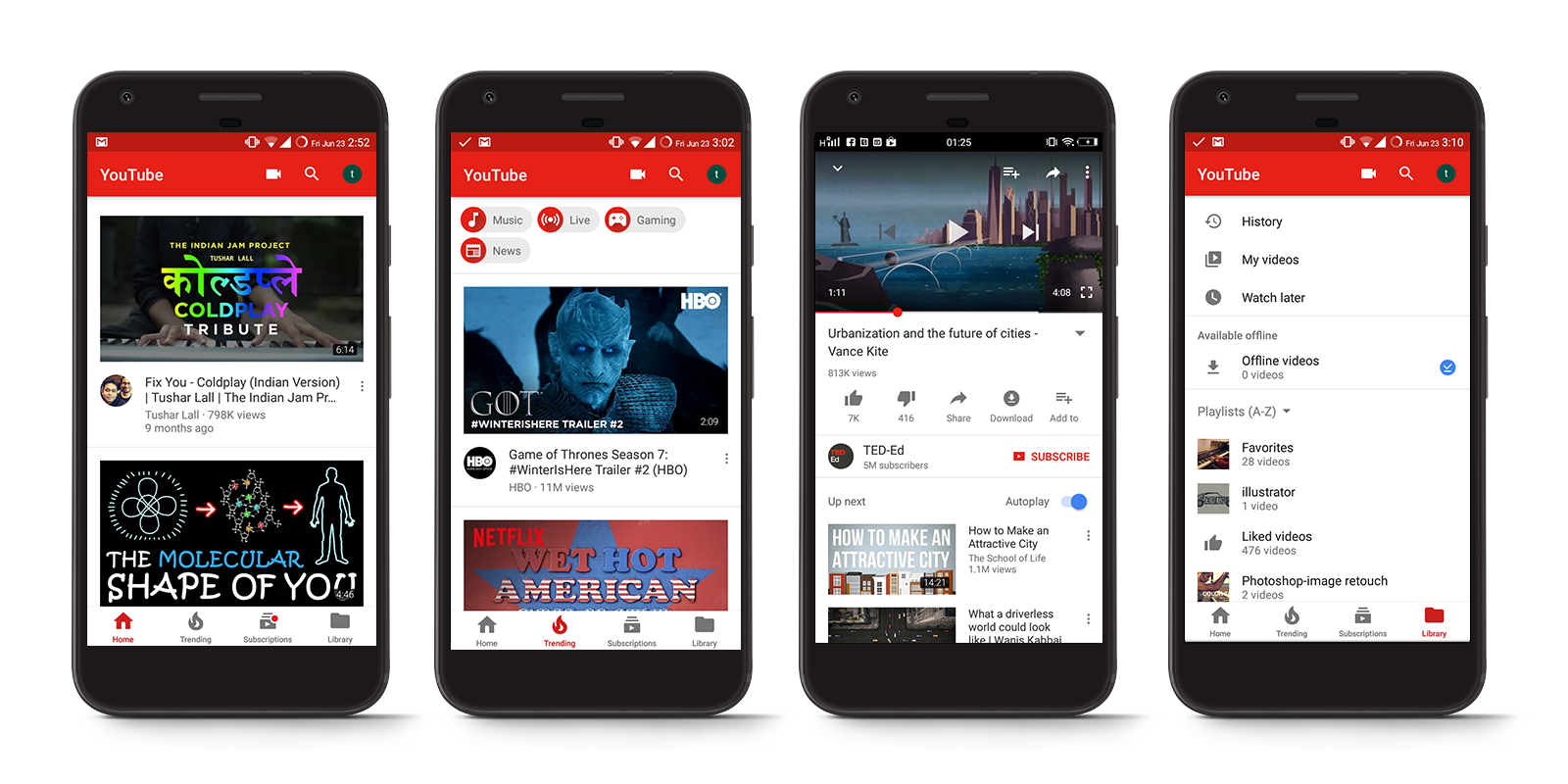 YouTube App: A Design Review - Pen | Bold Kiln Press - Medium