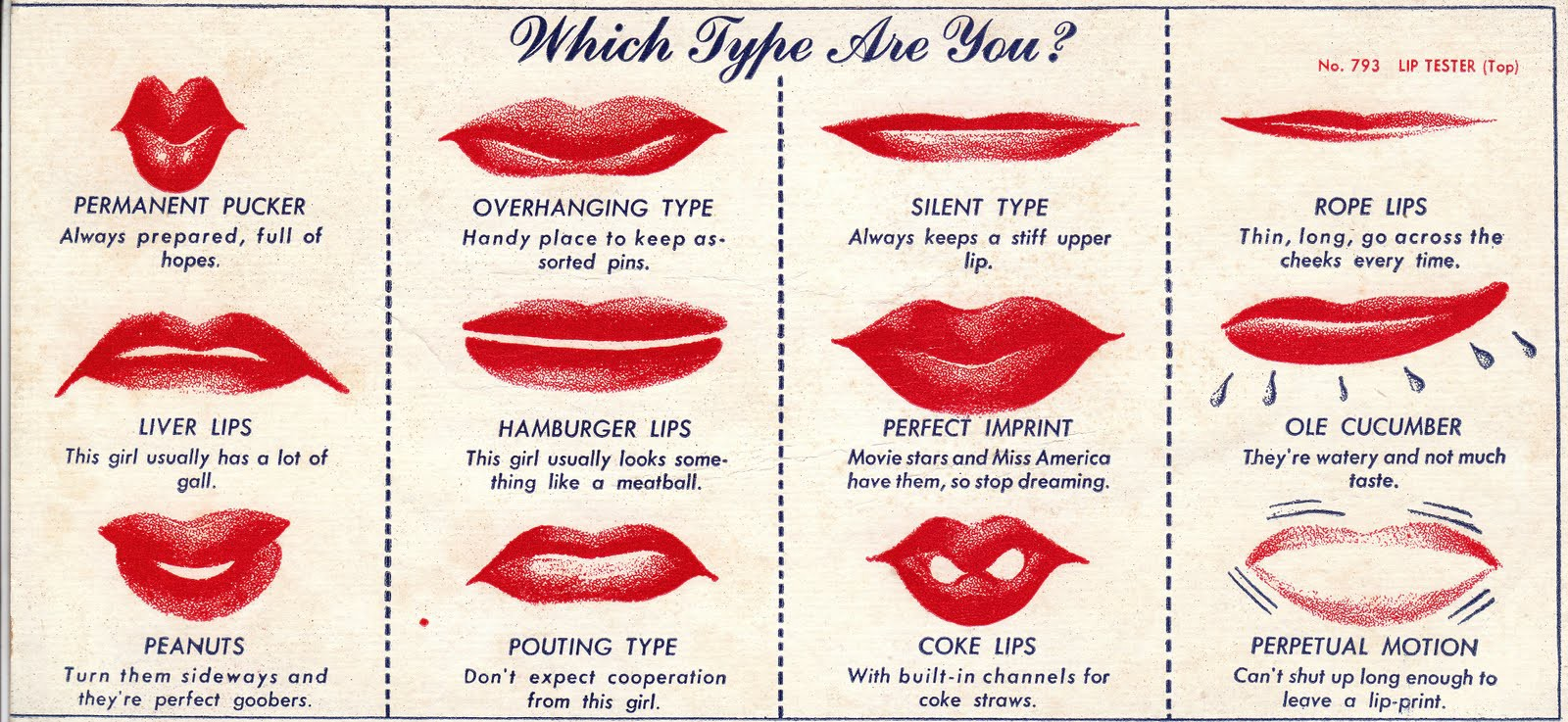 Your upper lip has never been more important - Timeline