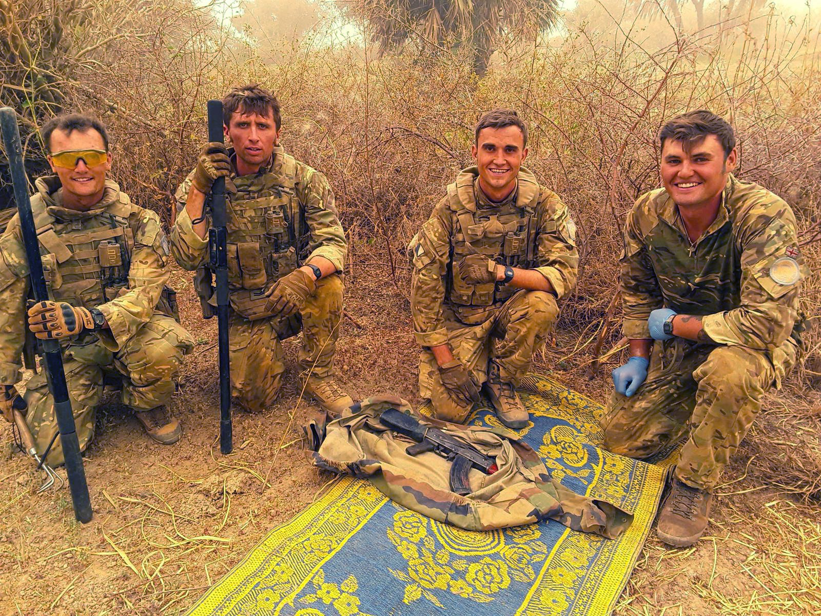 British peacekeepers in Mali on Operation NEWCOMBE.