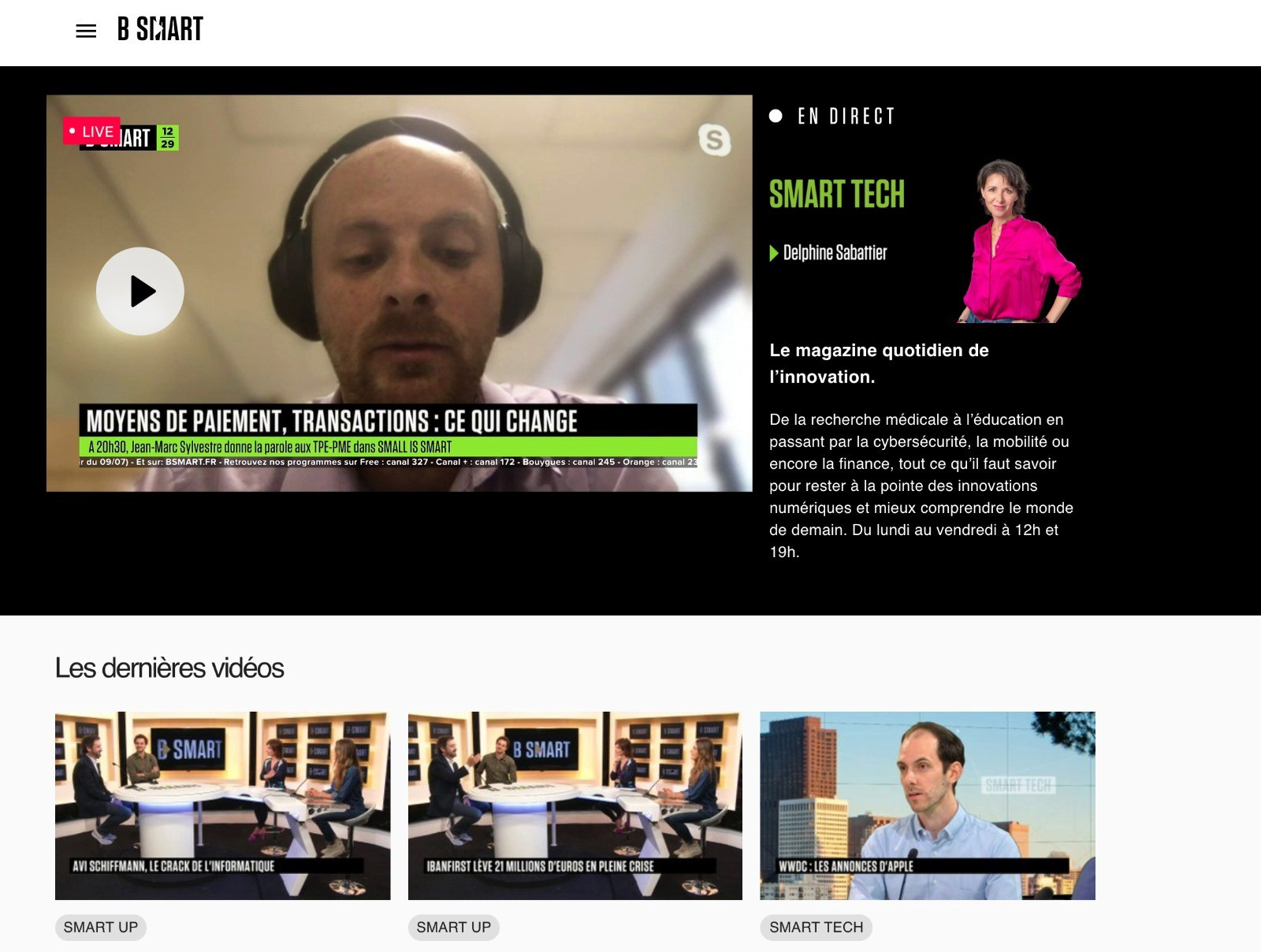ARK SCIC President Francois Thoorens speaking in an interview with the Smart Tech program of B Smart TV.