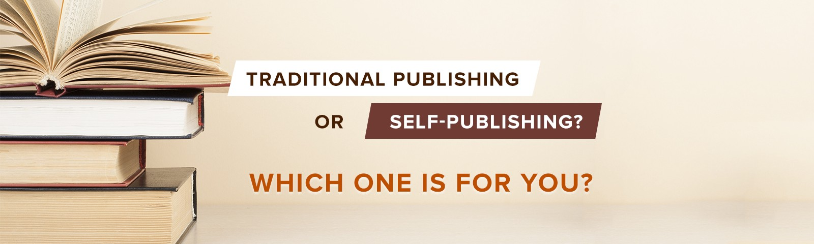 traditional vs self-publishing