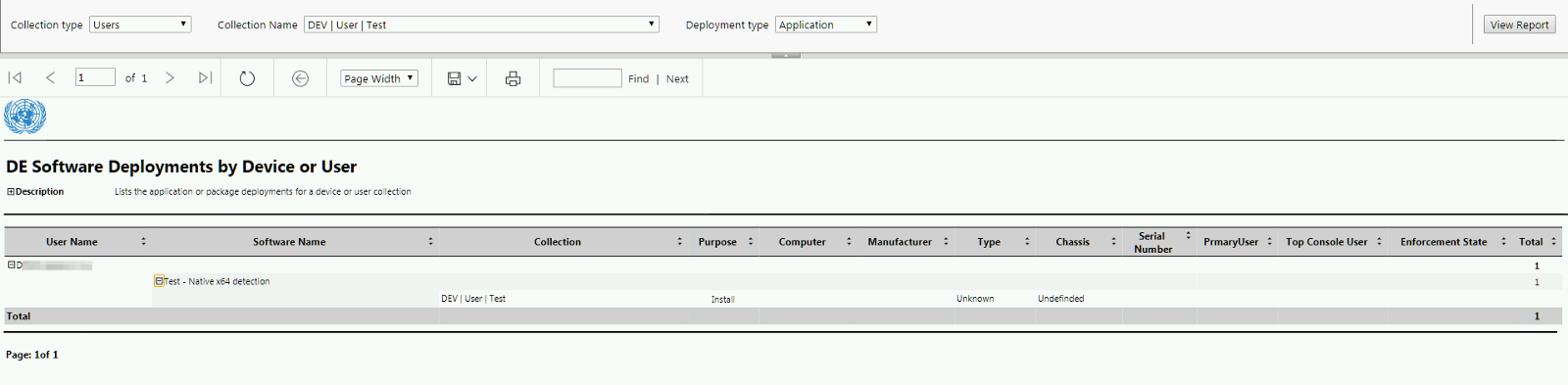Application and Package Deployments Reporting by Collection