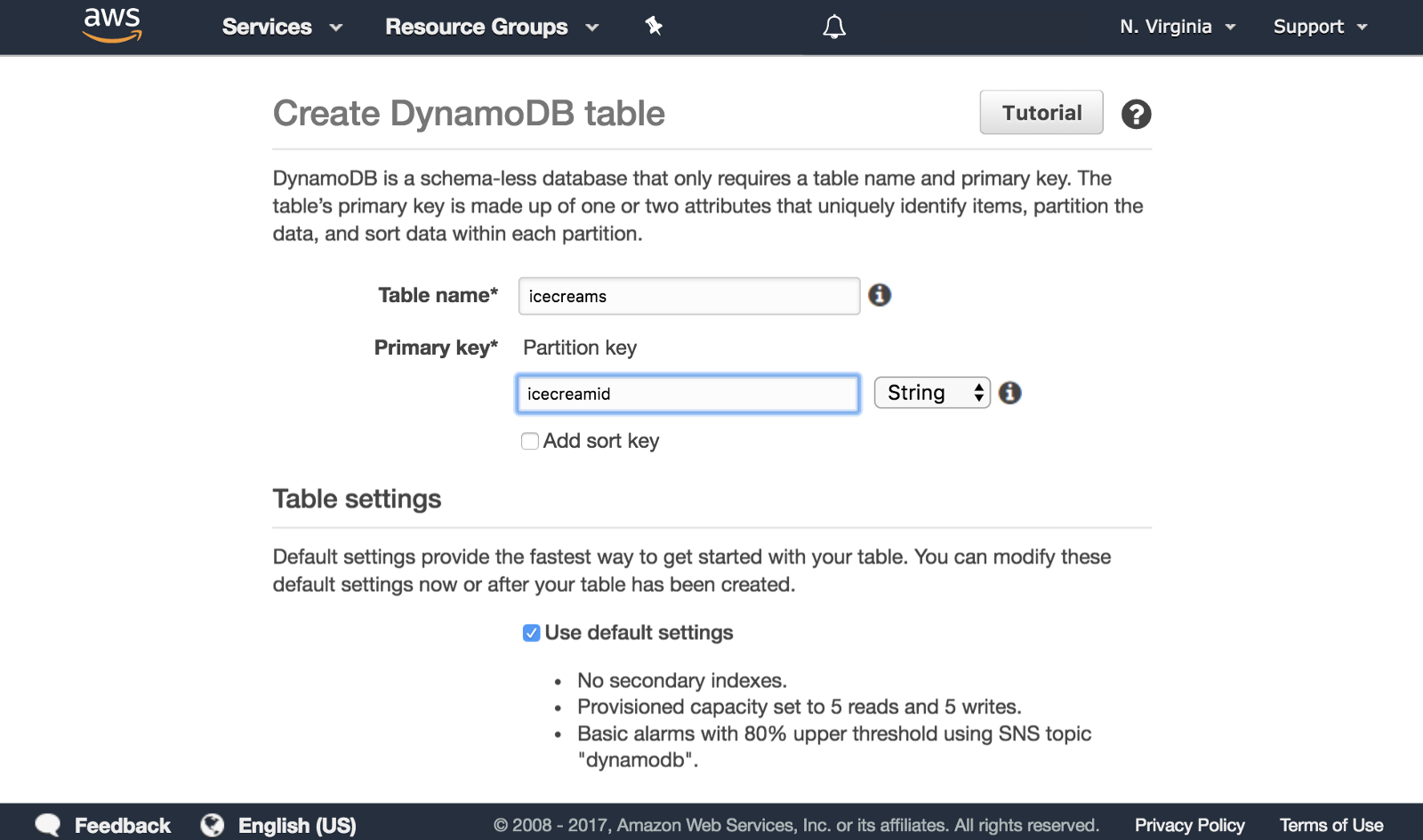 How To Create a Serverless Node js App with DynamoDB For The