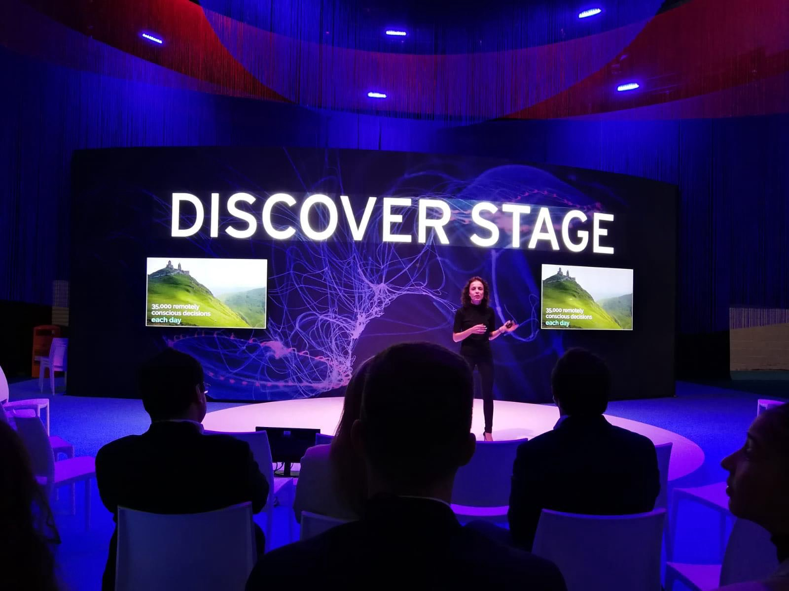 Androniki Menelaou presenting Katana Lens on the Discover Stage of Sibos 2019