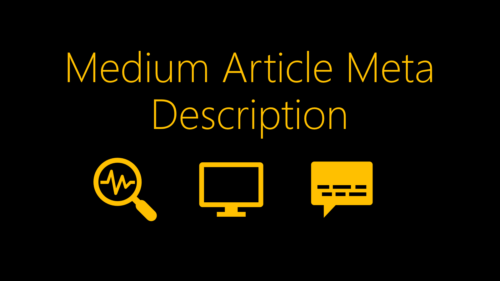 medium article meta description, customize medium meta description, medium article seo, medium meta description, medium seo