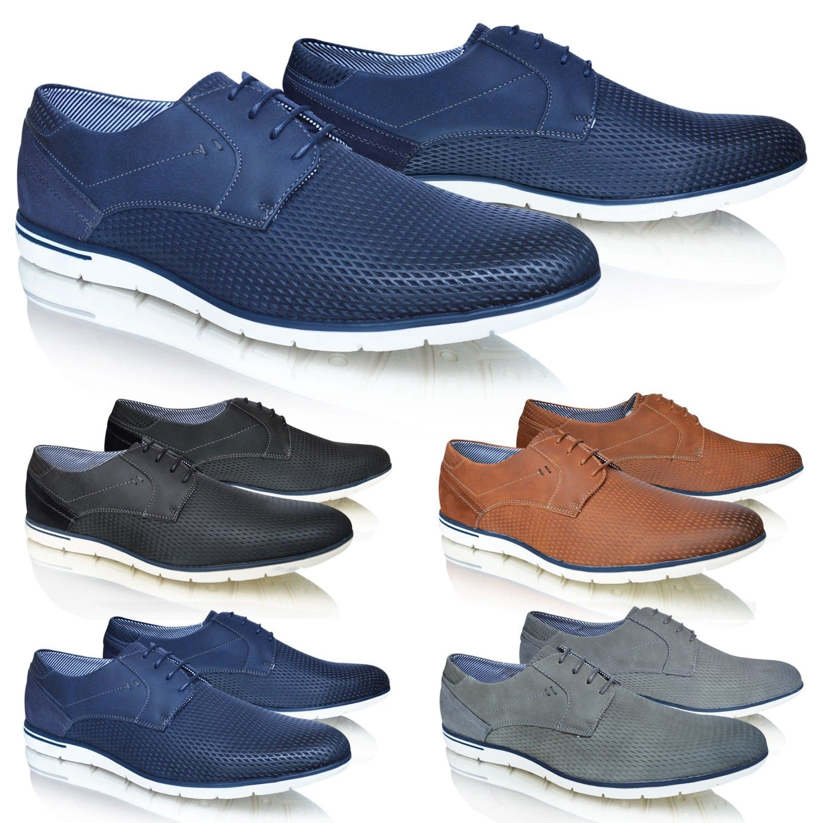 Mens Casual Smart Leather Lace Up