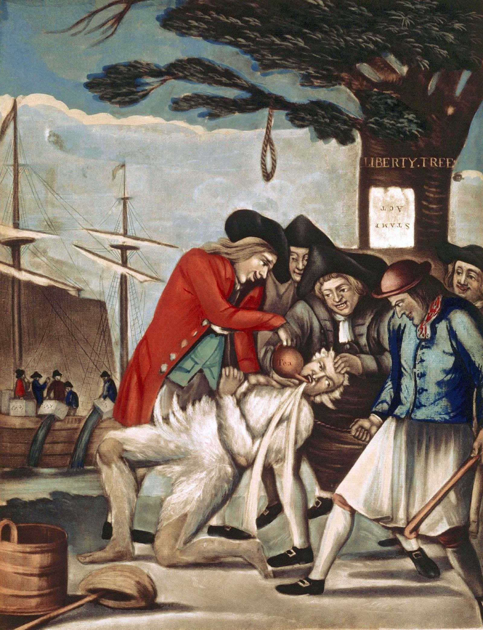 Paying the Excise Man by Philip Dawe, 1774