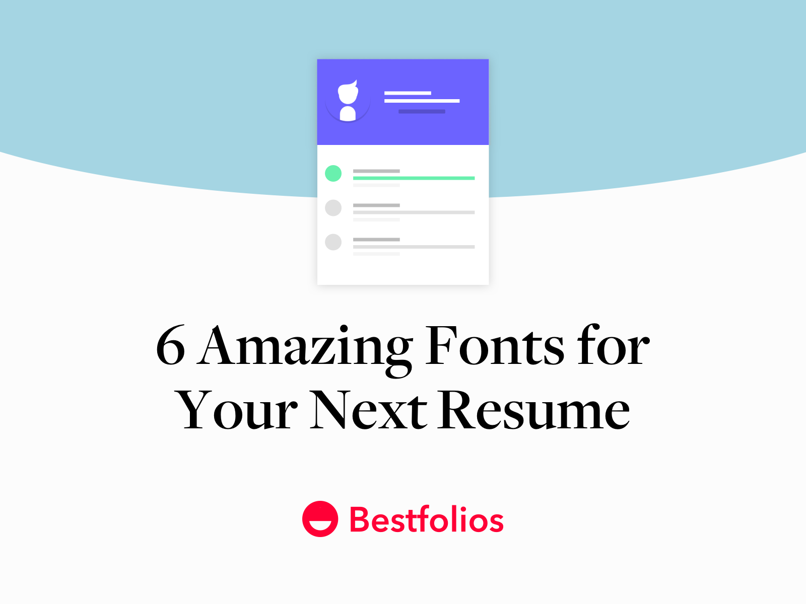 6 Amazing Fonts For Your Next Resume By Bestfolios Com Medium