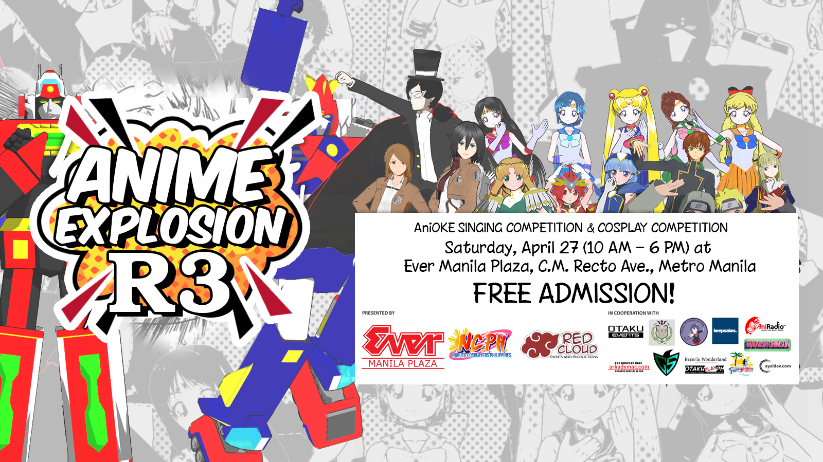PGF Summer Assembly 2019, Anime Explosion R3 to be held on
