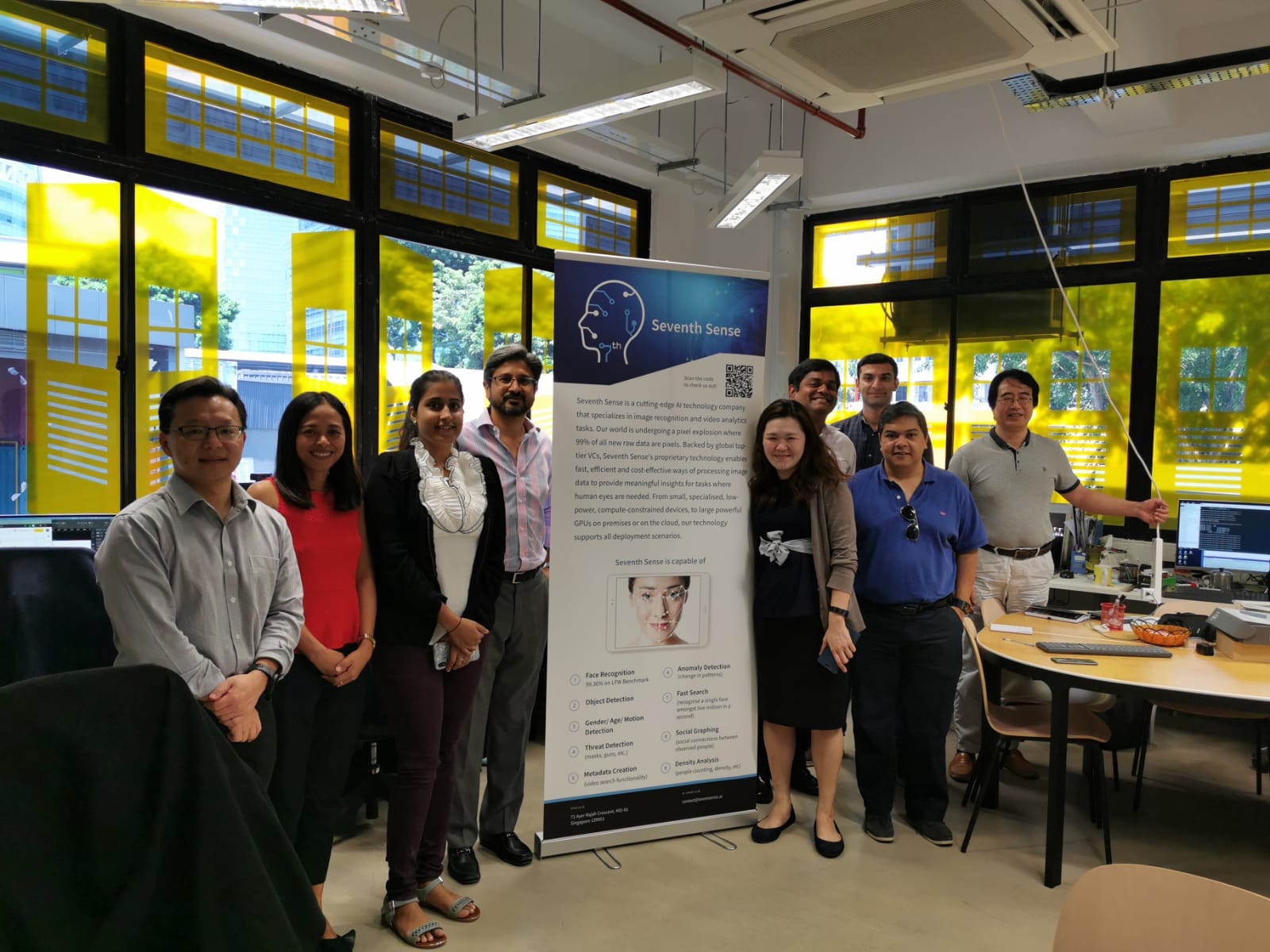 Team from seventh sense at their office at BLOCK71 Singapore