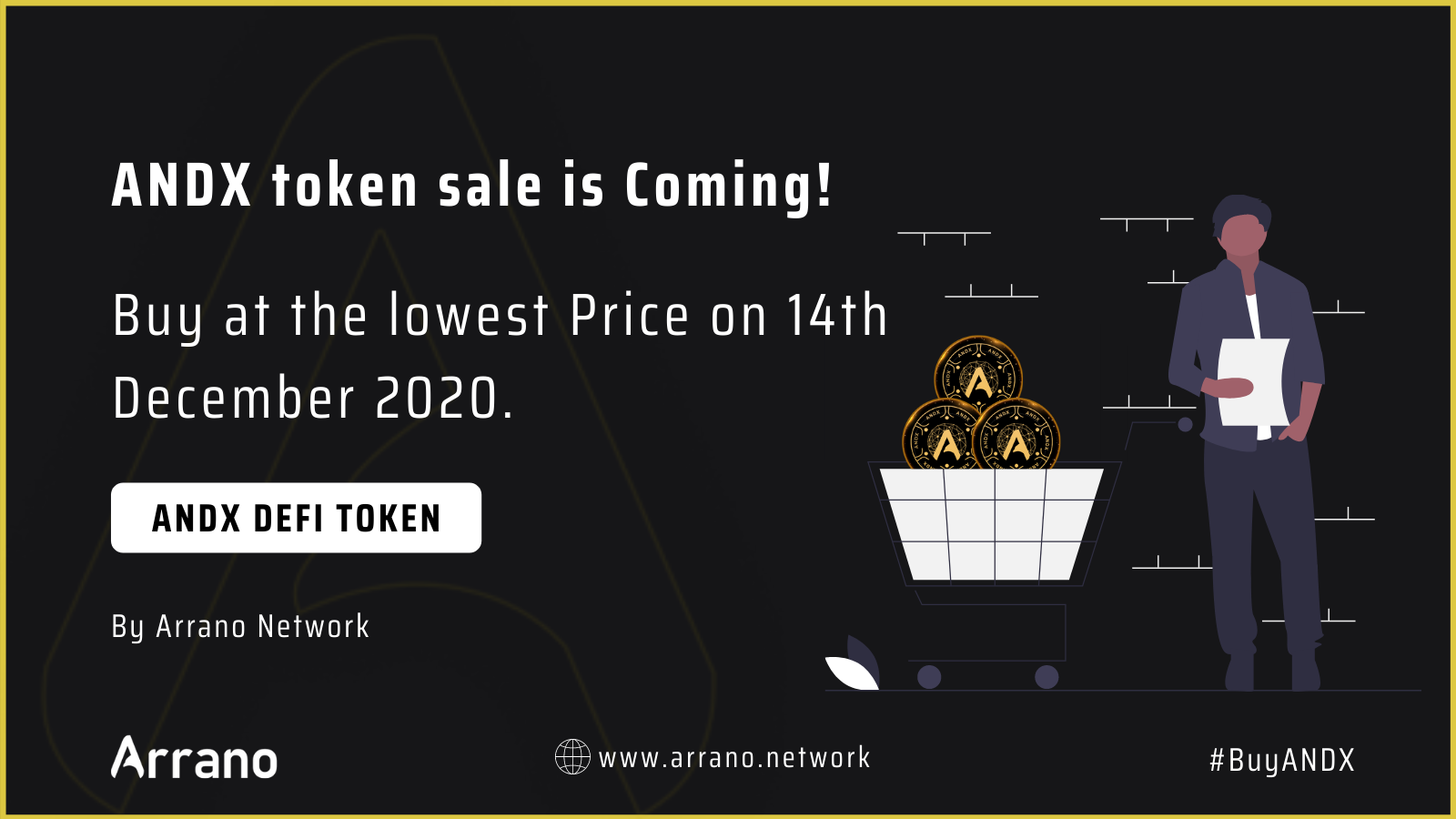 Arrano Network Announces the Pre-Sale of ANDX token, a Defi token with total supply of 81,800 & listed on Uniswap,other DEX.