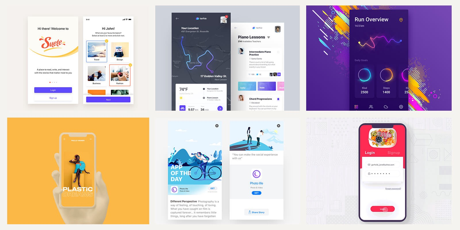 Cool Mobile UI Inspiration | by Premiumuikits | Muzli - Design ...