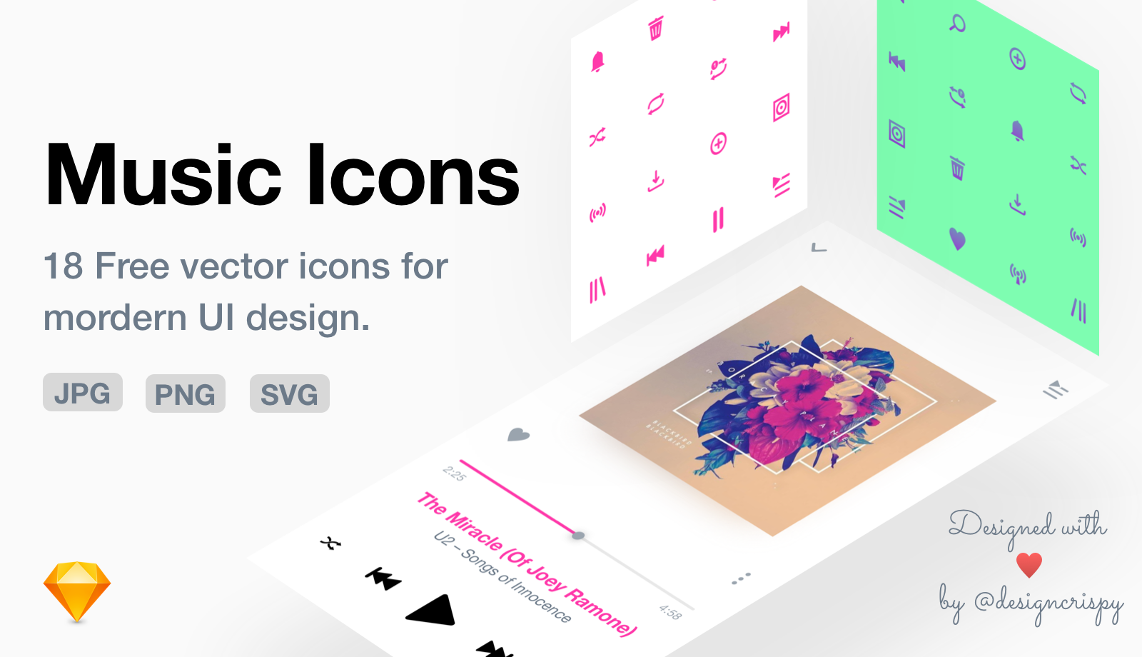 Music Icon Pack — Free Vector Icons for UI Design - techburst