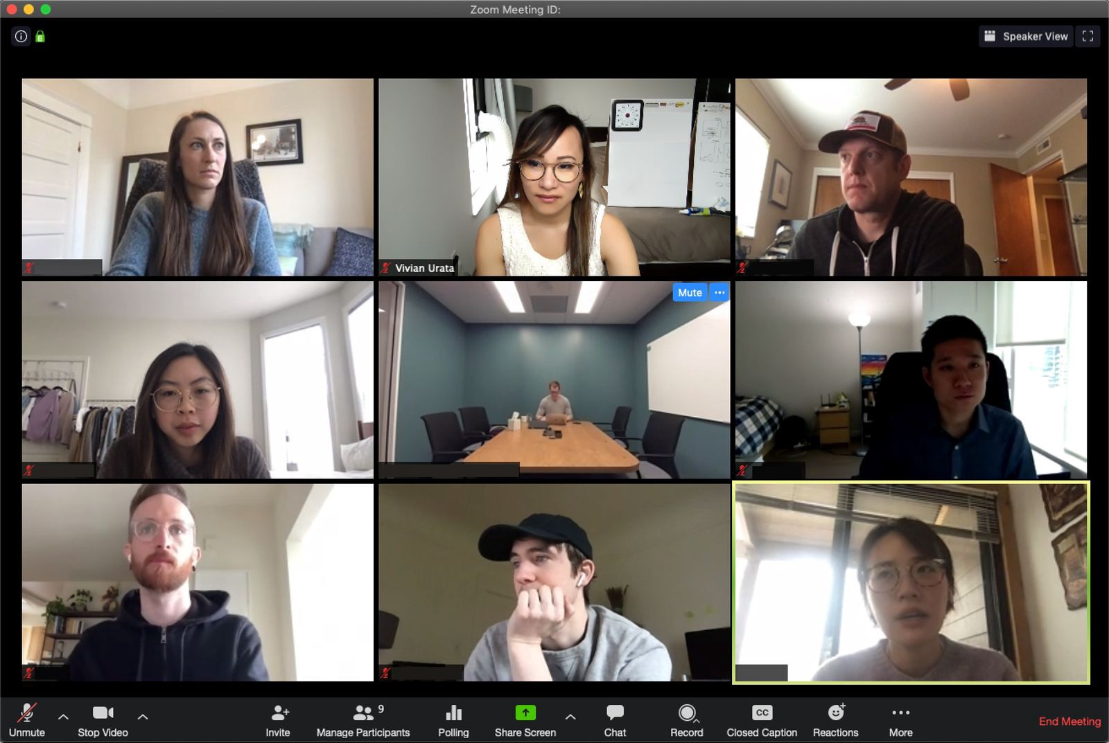 A group of people on a video call