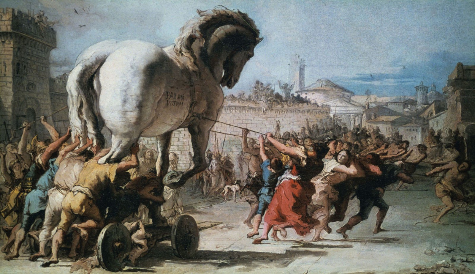 Painting of the Trojan horse
