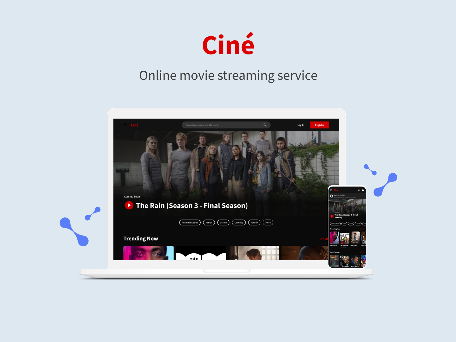 Ciné — Online movie streaming service cover.